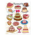 Desserts Postcard