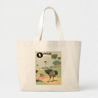 Dessin de livre de contes d'autruche sacs en toile