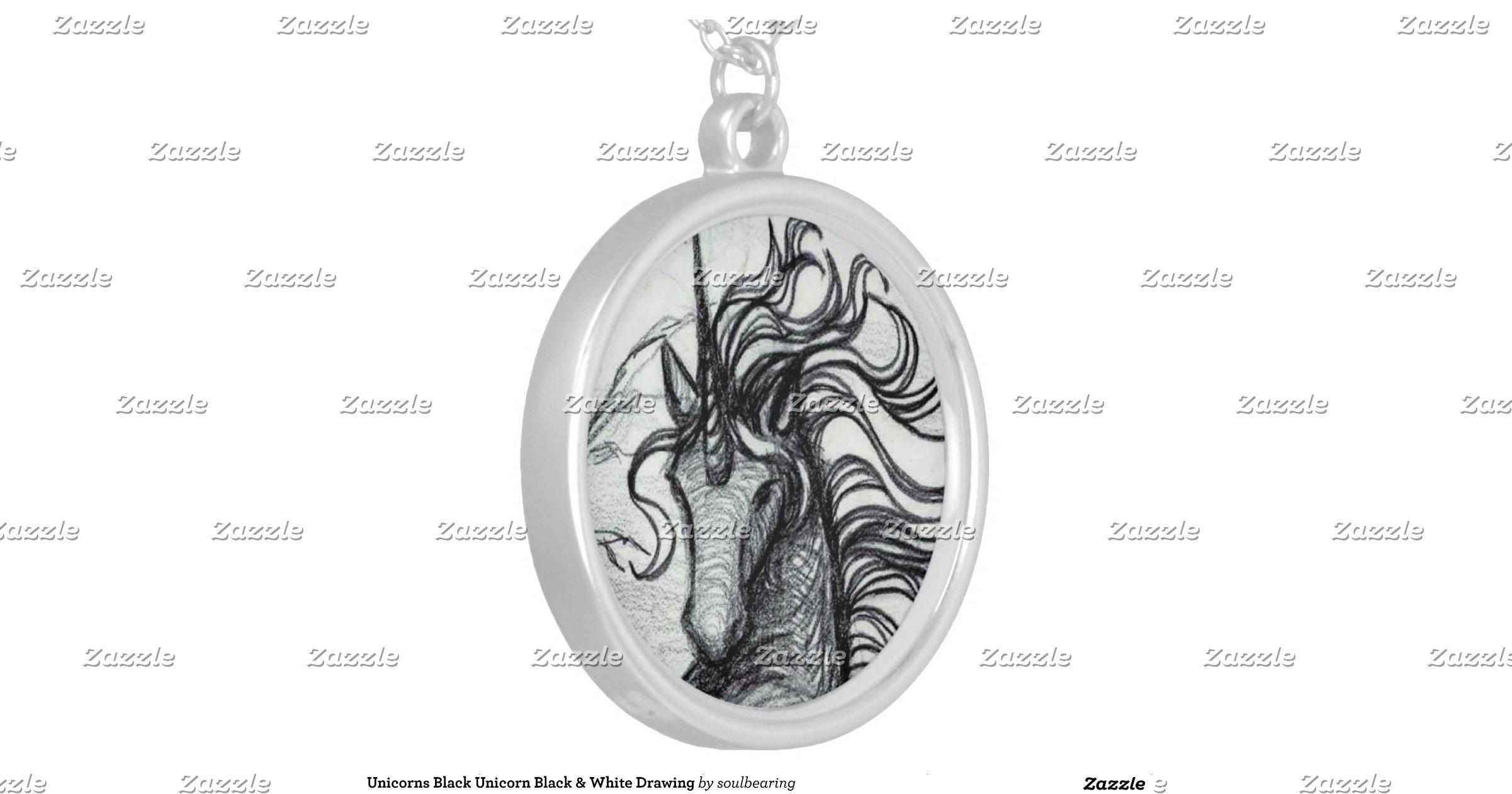 dessin noir et blanc de licorne noire de licornes. Black Bedroom Furniture Sets. Home Design Ideas
