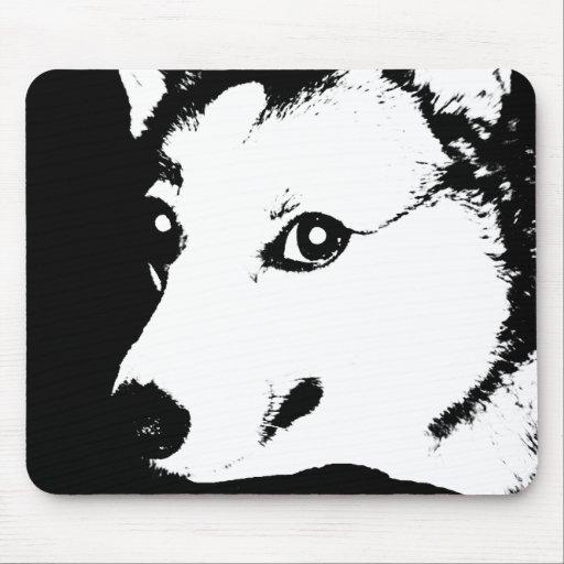 Dessin noir et blanc de photo d'art de corgi tapis de souris