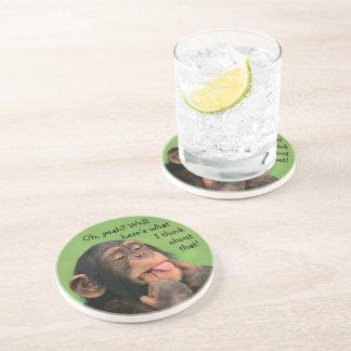 Dessous De Verre En Grès Chimpanzé effronté