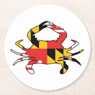 Dessous-de-verre Rond En Papier Crabe du Maryland
