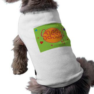 Dessus impertinent d animal familier tee-shirts pour toutous