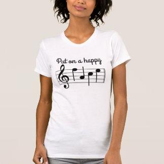 Dessus mises notes heureuses mignonnes d'une t shirts