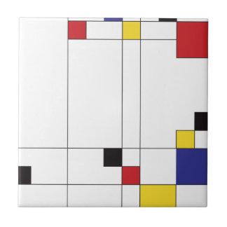 DeStijl Art Tiles