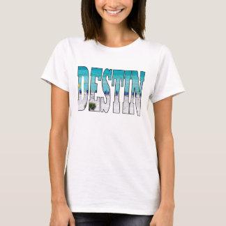 Destin Beach Photo Unique Typography Modern T-Shirt