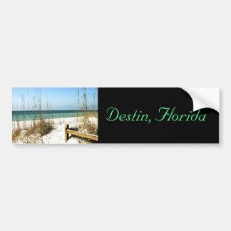Destin, FL - Beach scene bumper sticker