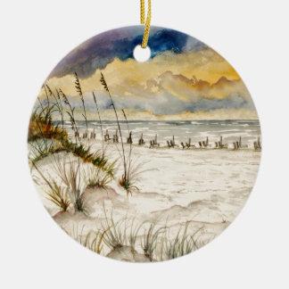 Destin Florida Beach Art Ceramic Ornament