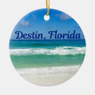 Destin Florida Beach Photograph Ceramic Ornament