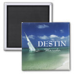 Destin Florida beached sailboat Square Magnet