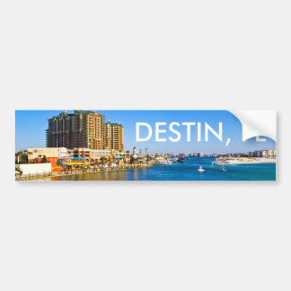 Destin Florida Bumper Sticker - Harbor Photo
