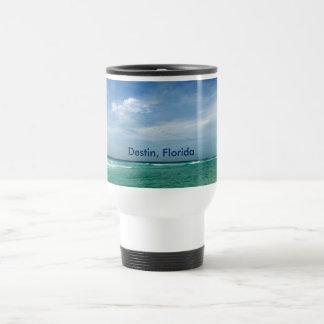 Destin Florida -  Sea Sky Birds Travel Mug