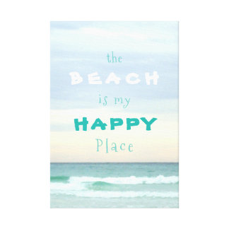 Destin Gulf Waters Happy Place Canvas Print