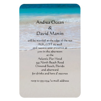 Destination Beach Wedding Custom Magnet Invitation