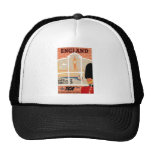 Destination: England Travel Poster Mesh Hats