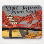 Destination: Japan Travel Poster Mouse Pad