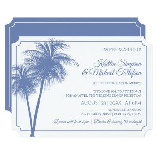 Destination Palm Tree Invitation | Cornflower Blue