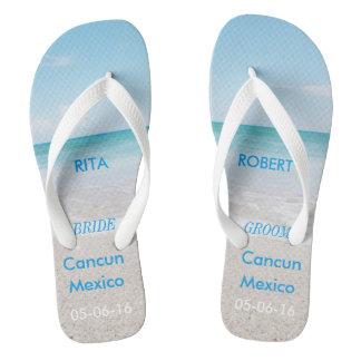 Destination Wedding BRIDE Beach Sandals Flip Flops