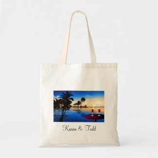 Destination wedding = customize with your own name tote bag