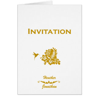 Destination Wedding Invitation Passport & Hibiscus