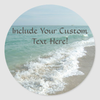 Destination Wedding Ocean Waves Envelope Seal or