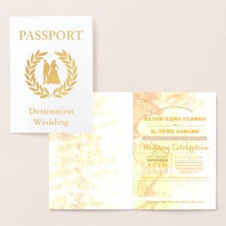 destination wedding passport foil card