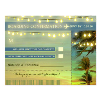 Destination Wedding RSVP postcards