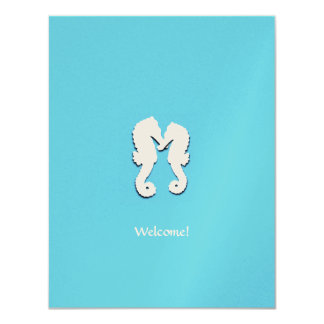 Destination Wedding Seahorse Welcome Guests Card