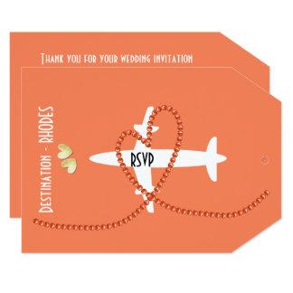 Destination Wedding To Rhodes Greece RSVP Card