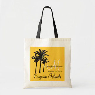Destination Wedding Tote Bag Caribbean Palm Trees