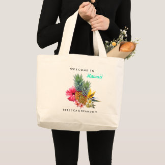 Destination Wedding Welcome Guests to Hawaii Large Tote Bag