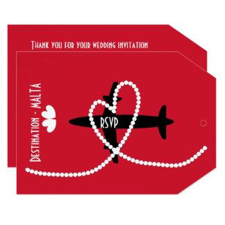 Destination Weddings Abroad Malta RSVP Card