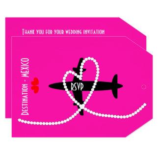 Destination Weddings Abroad Mexico RSVP Card