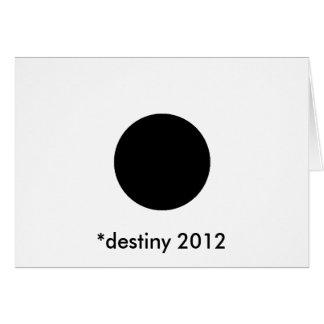 *destiny 2012 BlackcSqCircleTrans-3 Greeting Card
