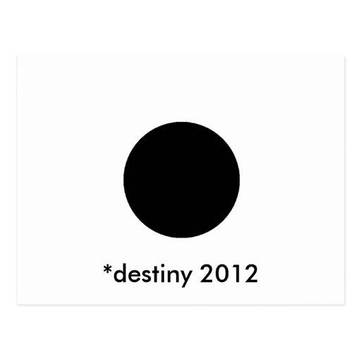 *destiny 2012 BlackcSqCircleTrans-3 Post Cards