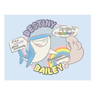 Destiny & Bailey Comic Graphic Postcard