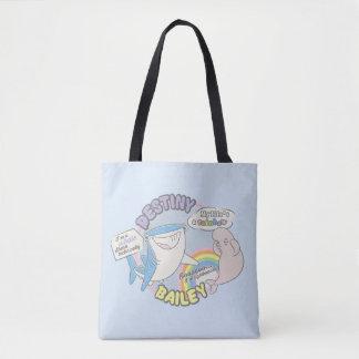 Destiny & Bailey Comic Graphic Tote Bag