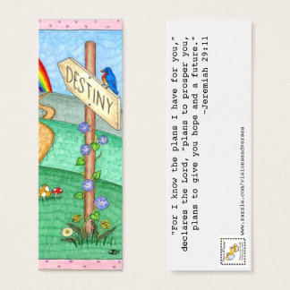 Destiny Book Mark (set of 20) Mini Business Card