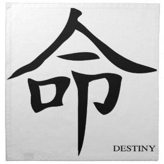Destiny Chinese Character Napkin