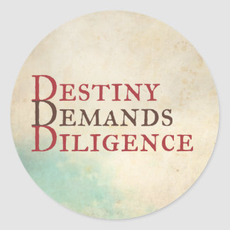 Destiny Classic Round Sticker
