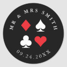 Destiny Las Vegas Casino Themed Custom Text Classic Round Sticker