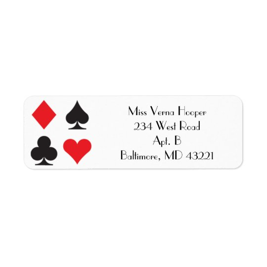 Destiny Las Vegas Wedding Invitation Label Return Address Label