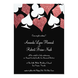 Destiny Las Vegas Wedding Invite Rose Gold Glitter