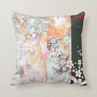 destiny oriental floral splash vector throw pillow