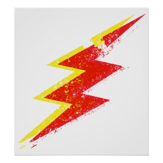Destroyed lightning bolt poster