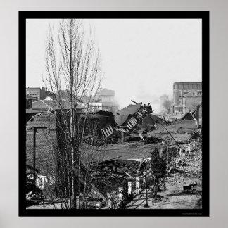 Destroyed Railroad Depot in Atlanta, GA 1864 Poster