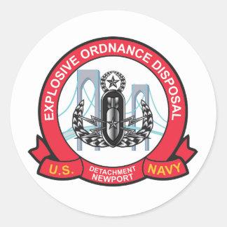 Det Newport Round Sticker