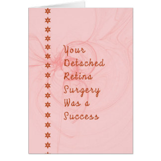 Detached Retina Surgery Card in Light Rosie Pink
