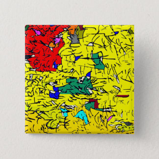 Detail abstract 2 inch square button
