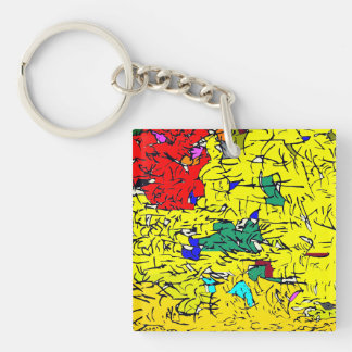 Detail abstract keychain